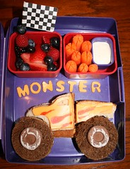 Monster Truck (Tami_Moore) Tags: food truck lunch strawberries sandwich bento carrots blackberries blueberries monstertruck monstertrucks laptoplunches