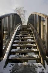 Bridge (pixiepic's) Tags: wood bridge sky snow tree huddersfield platinumheartaward aspleybasin