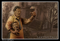 Texas Chainsaw Massacre (Dazhfc1) Tags: light leather toy toys actionfigure scary box leatherface warmth spooky horror lightbox texaschainsaw darrengallagher dazhfc1