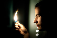 Flame (TGKW) Tags: portrait people man angel fire bokeh glasgow explore flame frontpage euan 1062