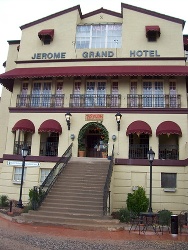 Jerome Grand Hotel - a former mental institution - thus The Asylum Restaurant