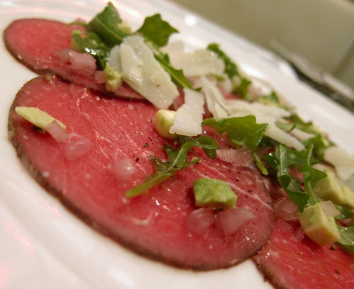 Beef Carpaccio at LA Market by Kerry Simon