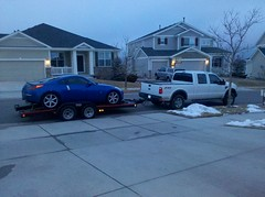 Car loaded up for trek to cali, @project350z #goin2cali