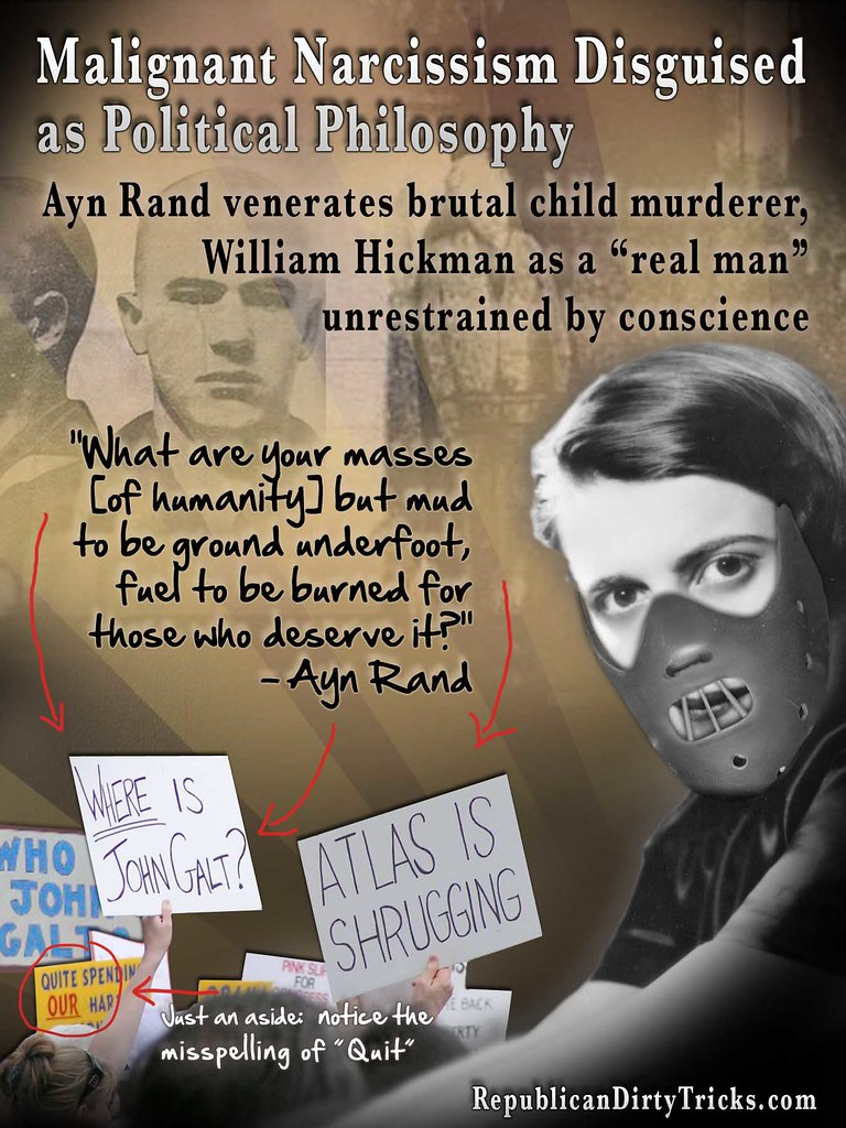 "Psycho Killer Gets ""Real Man"" Status In Ayn Rand's Narcissistic Worldview"