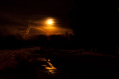 Moonlit Path (Nick, Programmerman) Tags: road red moon snow reflection clouds path moonrise 7020028 1dii