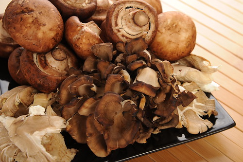 Use a combination of Cremini, Shitake and Oyster Mushrooms