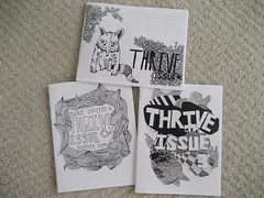 Thrive Zines Issues 1-3 (alyssaduhe) Tags: zine etsy thrive