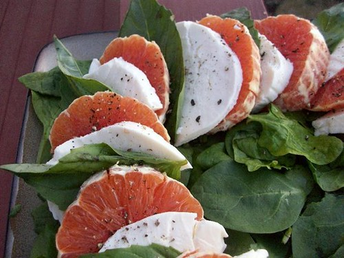 Orange & Mozzarella Salad w/ Basil @ Megan's Cookin