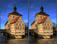 Altes Rathaus 3D (cross-view) (rawshooter72) Tags: canon eos 3d view cross bamberg stereo chacha rathaus cha hdr altes 3xp 2ev 1000d