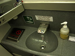 The sink in the Lavatory () Tags: vacation holiday plane airplane bathroom mirror fly inflight soap airport sink aircraft flight jet aeroporto aerial restroom boeing mh 777 rtw lavatory aereo airliner vacanze avion roundtheworld globetrotter boeing777 malaysiaairlines areo 30000feet inthebathroom malaysianairlines 36000feet airplanebathroom 777200 insidetheplane worldtraveler 32000feet 22days boeing777200  36k cabininterior airplanelavatory 7772h6er flight89  interiorcabin airplanerestroom inthecabin mh89 mh089 flight089 seat36k