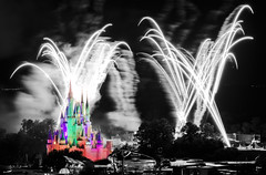 Castle of Colour (Ben Hewitt) Tags: world christmas longexposure light vacation usa holiday night fun evening orlando epcot break bright florida fireworks magic illuminations disney resort disneyworld wishes colourful wdw studios mgm magickingdom d3 waltdisney spectromagic waltdisneyworldresort forework disneypictures brightcolourful nikond3 disneypicture benhewitt copyrightbenhewitt2009