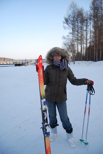 明天在滑雪