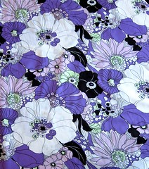 Bold Cotton Lawn Floral (Purple, Black, White, Green)