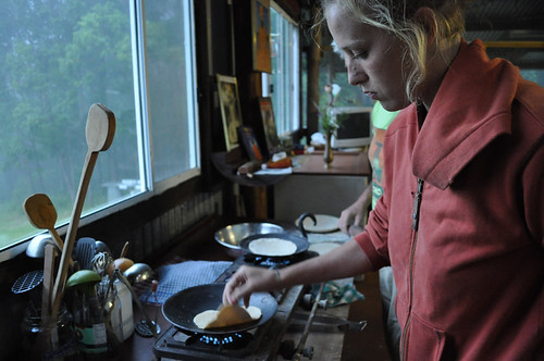 Veronica cooking chapatis the Yoga in Daily Life retreat in Dungog, NSW. Photo by Bobbi Lee Hitchon