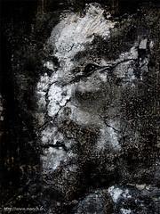 soul on the wall (Monch_18) Tags: france art dark pareidolia noiretblanc sombre nightmare mur artcontemporain montreuil dreamcatcher visage monch trange inquitant matire expressif anthropomorphisme pareidolie