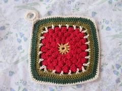 Red Potholder - front