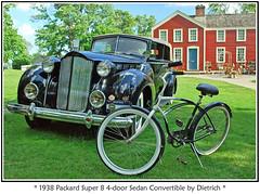 1938 Packard Super 8 (sjb4photos) Tags: car bicycle automobile packard greenfieldvillage autoglamma 1938packard burbankhouse 2009motormuster