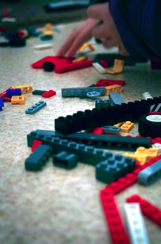 Legos on the floor
