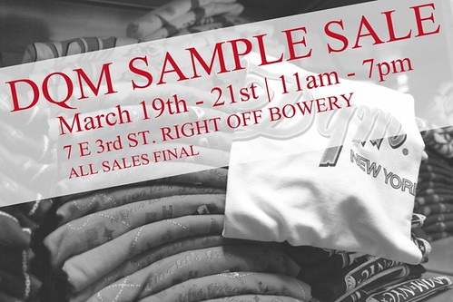 DQM sample sale