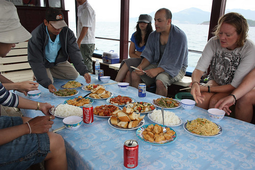 Lunch on our boat