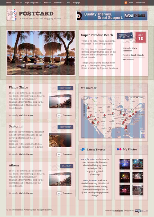 Postcard   January 2010 WooThemes Theme