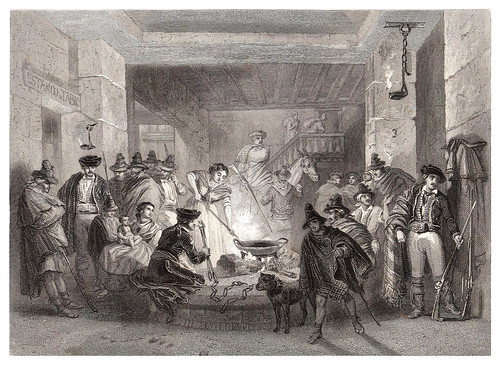 031-Una venta en Andalucia-Voyage pittoresque en Espagne et en Portugal 1852- Emile Bégin