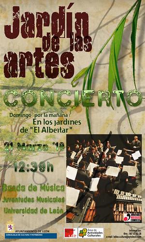 CONCIERTO EN EL JARDÍN DE LAS ARTES DE LA BANDA DE MÚSICA JJMM-ULE - 21.03.10