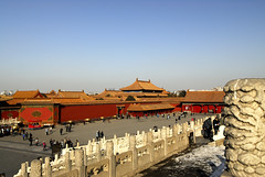 Looking Toward Fengxian Hall from the Hall of Preserving Harmony in the Forbidden City in Beijing (marantzer) Tags: forbiddencity hallofpreservingharmony gateofheavenlypurity fengxianhall