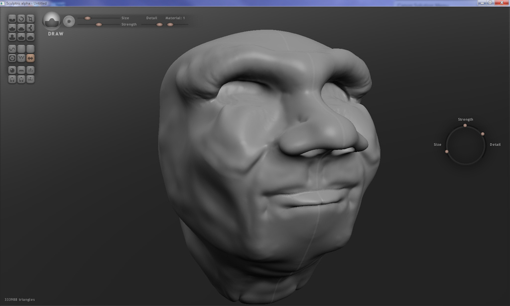Free ZBrush like sculpting tool - Sculptris: Retouching
