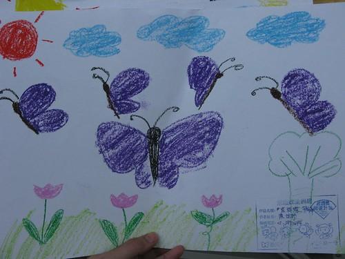 紫斑蝶季活動小朋友留下蝴蝶畫-1
