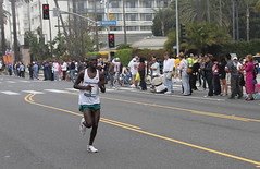 Thomas Kiplitan of Kenya finished 9th with a time of 2:14:05 (kjdrill) Tags: ocean california street usa streets beach sports sport race start la pier losangeles pacific santamonica marathon running route distance runner dodgerstadium 5803