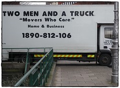 Two men and a truck...the essence of trucking!:)