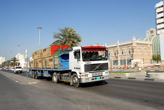 TRUCKING IN DUBAI (Claude  BARUTEL) Tags: volvo dubai united transport emirates arab sharjah trucking