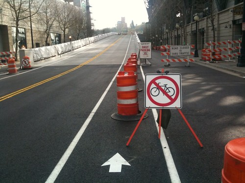 No Bikes in Bike Lane