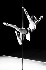 Classic Pole (Lori Foxworth) Tags: ballet uspdf poledancingchampionships amberrichard quotlorifoxworthquot quotlorifoxworthphotographyquot quotblackwhiteandrawquot quotyourdailycheesesteakquot