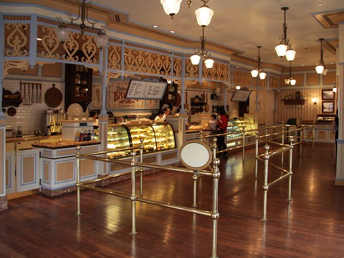 Interior of coffee & pastry