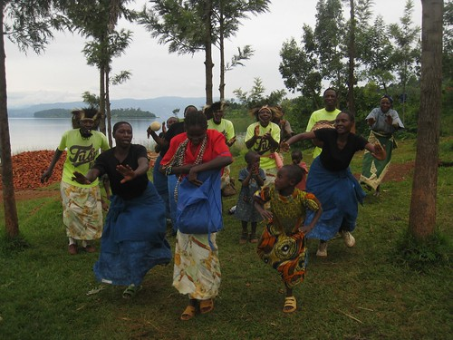 The villagers put on a song and dance show for us.