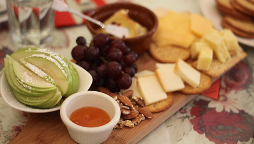 Secret Garden Tea House, Fruit and Cheese Platter