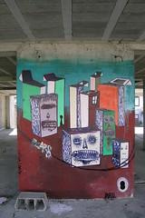 Woozy (Woozy - Athens) Tags: streetart art portugal train graffiti abstractart contemporaryart murals athens urbanart greece porto bombing postart woozy muralist muralism