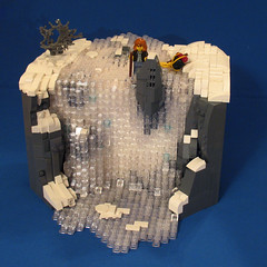 Nary a Trickle (-Mainman-) Tags: snow ice frozen waterfall blood post lego contest apocalypse 2010 nary apoc trickle foitsop apocalego 1apr10