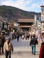 Ruelle du temple de Nagano