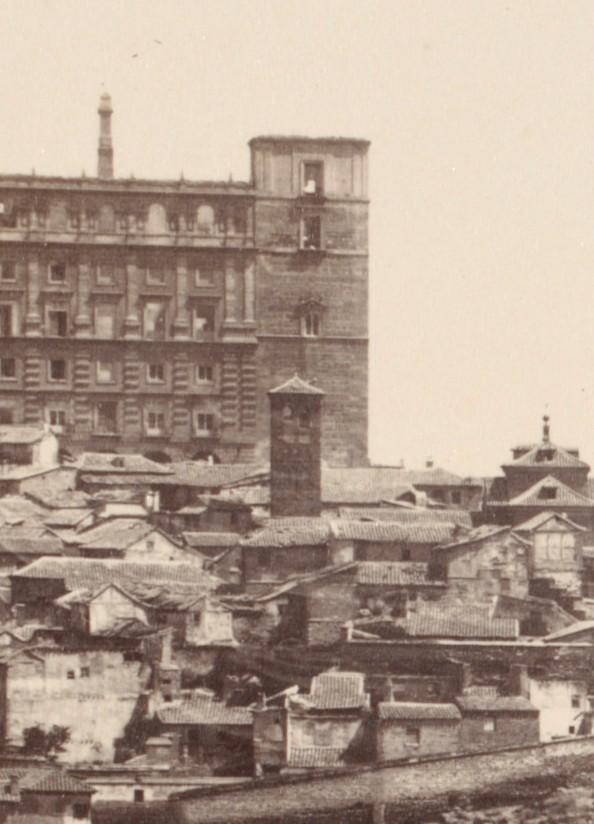 Iglesia de San Miguel el Alto en 1857. Fotografía de Charles Clifford