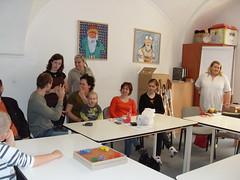 Beseda o bariérách ve Znojmě pro klienty TyfloCentra a členy klubu Auris, 6. 4. 2010
