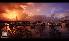 Port Douglas Marina (charithra Hettiarachchi) Tags: sunset sea sky sun boats australia queensland cairns portdouglas sigma1020mm charithrahettiarachchi canoneos7d