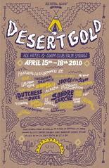 Desert Gold Poster (Willbryantplz) Tags: california poster desert palmsprings coachella acehotel handlettering desertgold