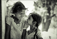 """Sharing smile!"" (abhiomkar) Tags: girls girl smile happy village smiles moment hyderabad share krishlikesit yamjal"