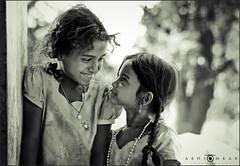"""""""Sharing smile!"""" (abhiomkar) Tags: girls girl smile happy village smiles moment hyderabad share krishlikesit yamjal"""