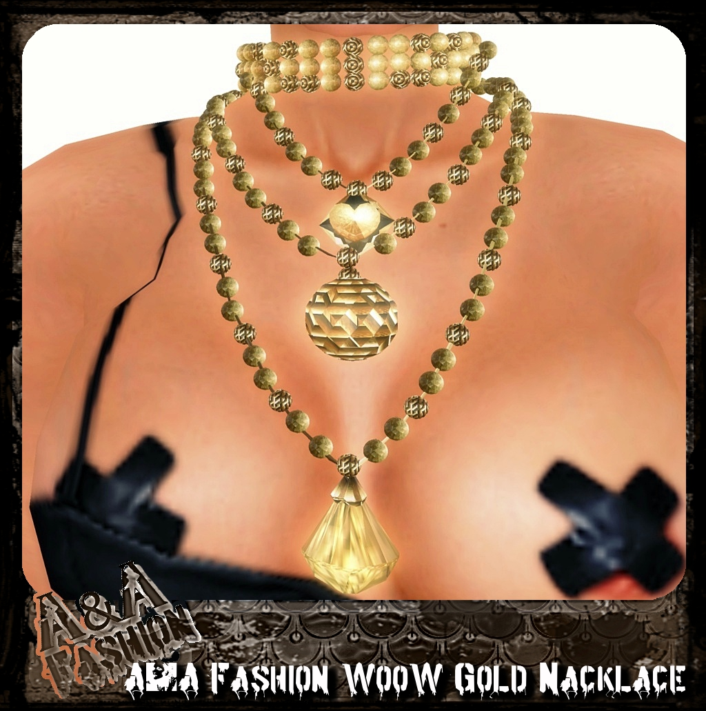 A&A Fashion WooW Gold Nacklace