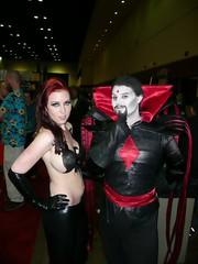 Mister Sinister & Phoenix (BelleChere) Tags: phoenix costume orlando cosplay megacon mistersinister
