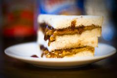 Midnight Snack (michaeljosh) Tags: skippy pbj midnightsnack taketwo smuckers nikkor50mmf14d project365 peanutbutterjellysandwich nikond90 michaeljosh